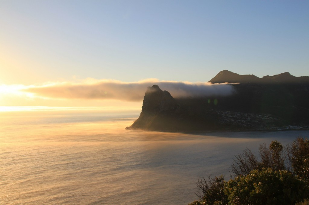 Houtbay beach at sunset