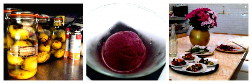 Blackcurrant and liquorice sorbet, lychee liqueur